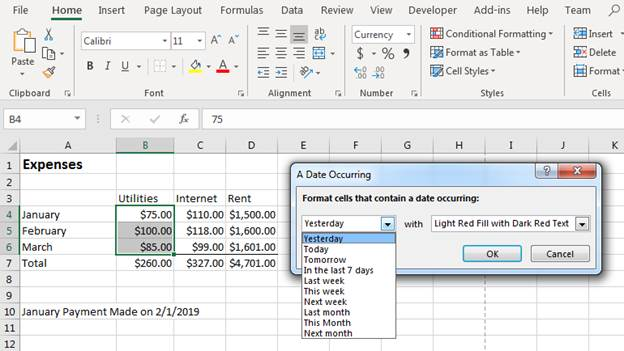 How to Use Conditional Formatting in Excel 2019 | UniversalClass