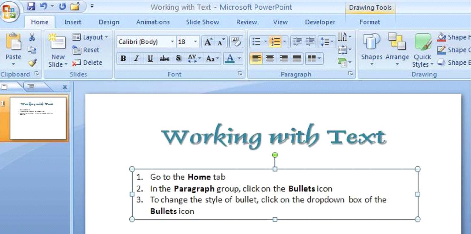 How to work with text in powerpoint 2007 universalclass want to learn more take an online course in powerpoint 2007 toneelgroepblik Image collections