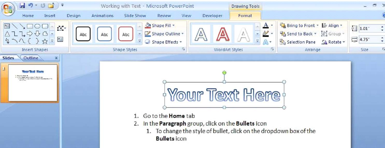 How to add textbox in powerpoint