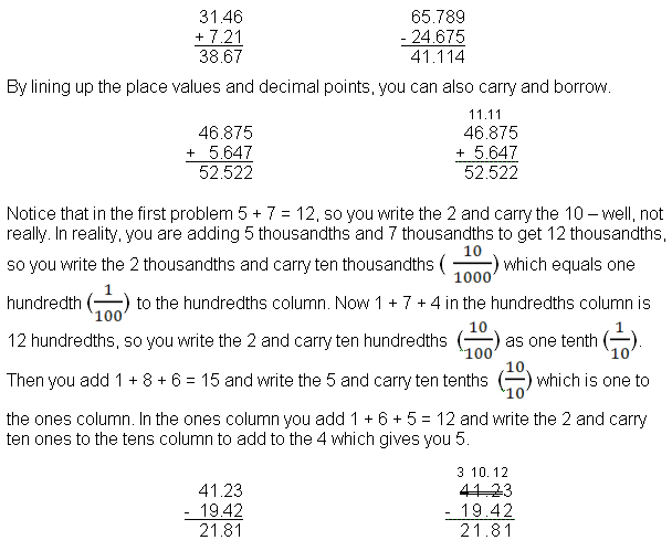 How To Add Subtract Multiply And Divide Decimals
