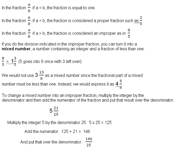 How to do fractions the easy way universalclass an improper fraction is one in which the numerator is larger than the denominator if the numerator is larger than the denominator the fraction equals a ccuart Gallery