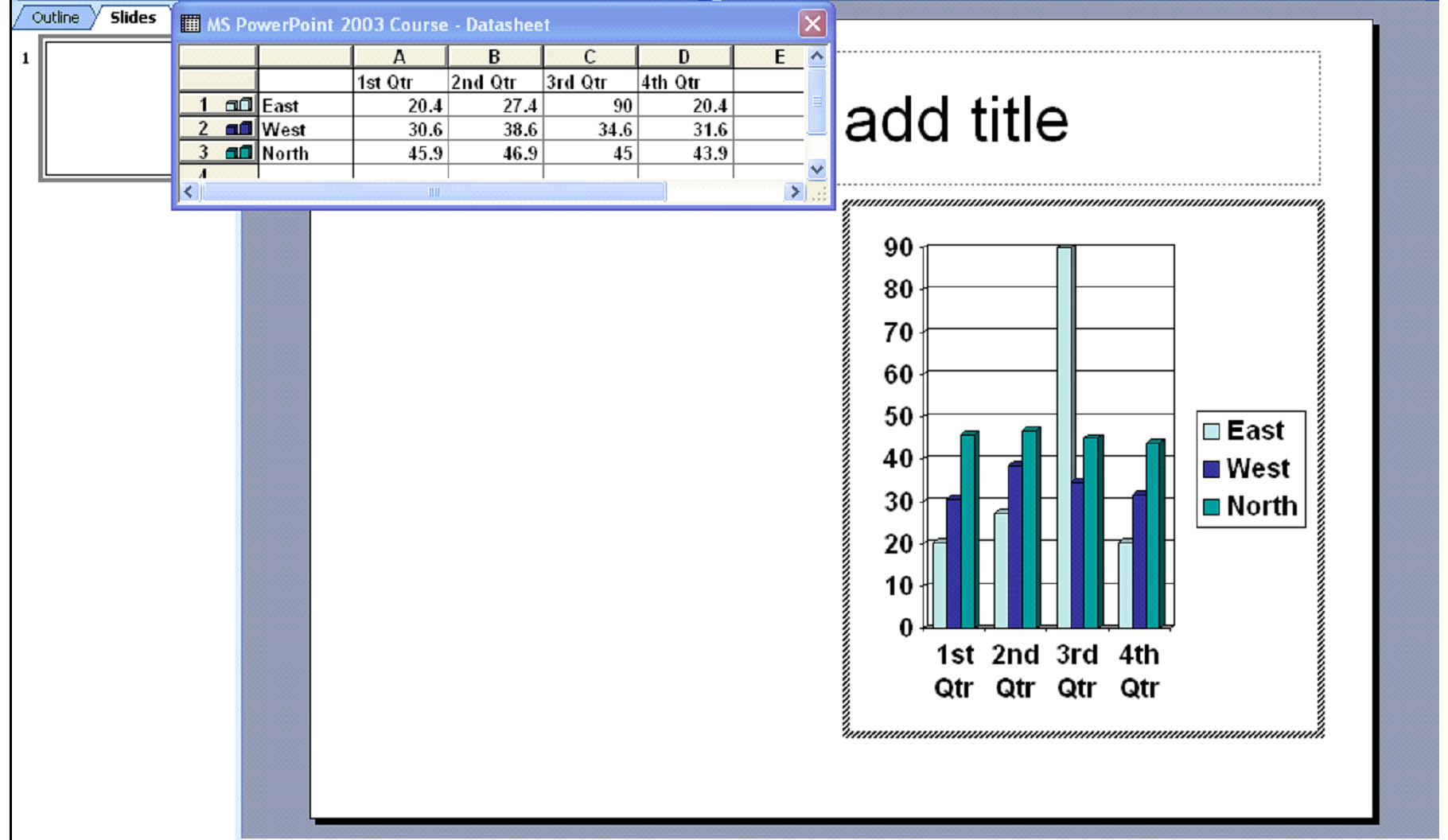Powerpoint 2003 how to add tables and charts universalclass