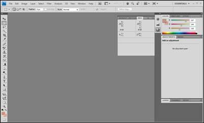 Starting adobe photoshop cs4 universalclass at the top of the window is the menu bar pictured below ccuart Image collections