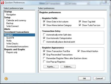 Using Account Registers in Quicken 2010 | UniversalClass