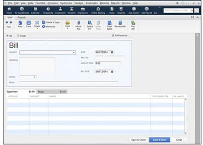 Your Vendors Should Already Be In Vendor List But If Not Quickbooks Will Allow You To Add Them