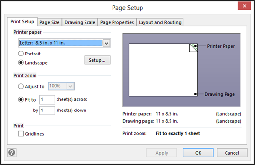 In The Dialogue Box Pictured Above You Can See Print Setup Options
