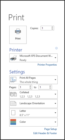 To The Right Of Your Print Options Youll See Preview Pane