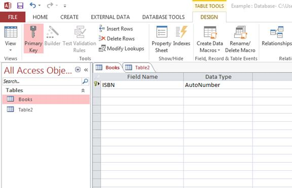 How to Create a Database and Add Tables in MS Access 2013