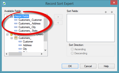 Sorting and Filtering Data in Crystal Reports | UniversalClass
