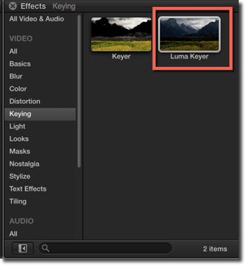 Process of Keying and Compositing in Film Cut Pro X