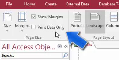 All About Printing and Exporting Reports in Access 2016