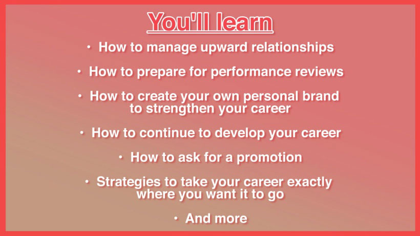 View Managing Your Career Video Demonstration
