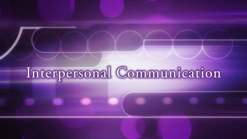View Interpersonal Communication Video Demonstration