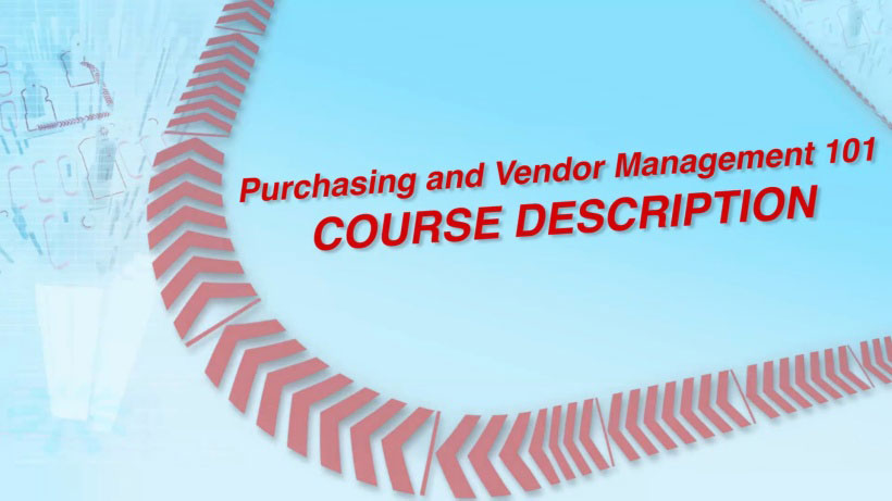 View Purchasing and Vendor Management 101 Video Demonstration
